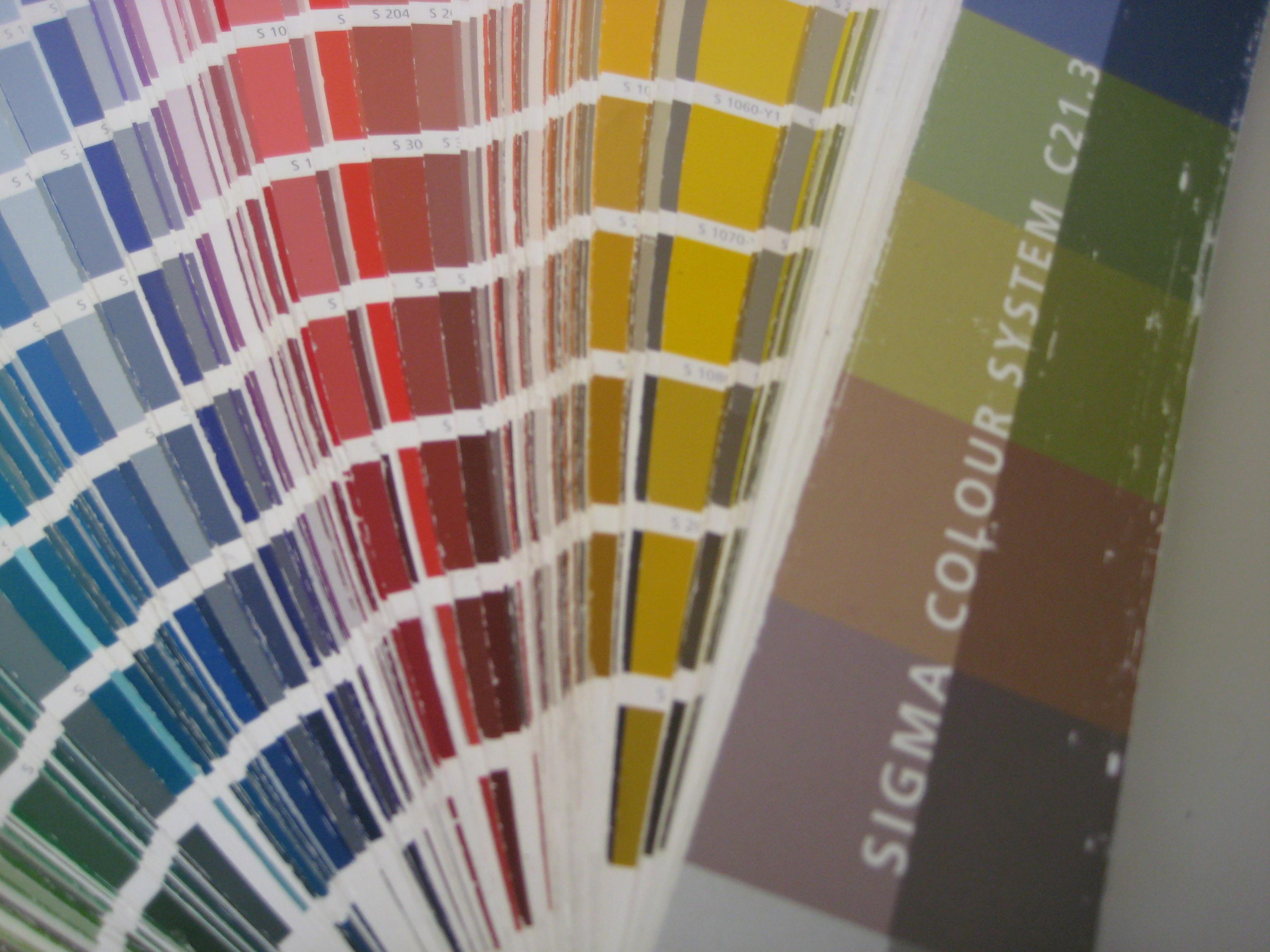 Kleurenwaaier Sigma