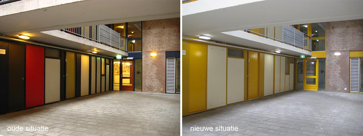 oude en nieuwe situatie Oosterkade Groningen