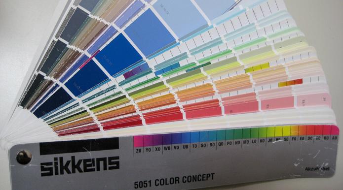 Sikkens kleurenwaaier Akzo Nobel kleurnummers roelienke de vries kleurontwerp voor corporatievastgoed